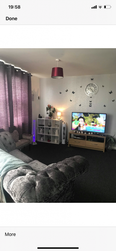 A modern 2 bedroom flat nr town centre looking for a 2/3 bedroom house in wellin