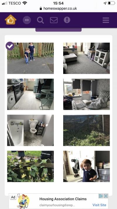 1 bedroom ground floor flat with privet front and back garden