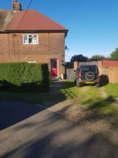 Two bedroom semi rural,semi detached house